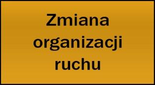 Zmiany w organizacji ruchu